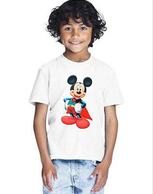 Camiseta Infantil Menino Super Mickey Desenho - Personalizadas/ Customizadas/ Estampadas/ Camiseteria/ Estamparia/ Estampar/ Personalizar/ Customizar/ Criar/ Camisa Blusas Baratas Modelos Legais Loja Online