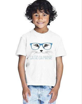 Camiseta Infantil Menino Gatão Da Mamãe - Personalizadas/ Customizadas/ Estampadas/ Camiseteria/ Estamparia/ Estampar/ Personalizar/ Customizar/ Criar/ Camisa Blusas Baratas Modelos Legais Loja Online