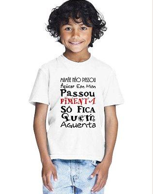 Camiseta Infantil Menino Mamãe Passou Pimenta - Personalizadas/ Customizadas/ Estampadas/ Camiseteria/ Estamparia/ Estampar/ Personalizar/ Customizar/ Criar/ Camisa Blusas Baratas Modelos Legais Loja Online