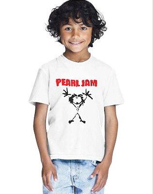 Camiseta Infantil Menino Pearl Jam Banda De Rock - Personalizadas/ Customizadas/ Estampadas/ Camiseteria/ Estamparia/ Estampar/ Personalizar/ Customizar/ Criar/ Camisa Blusas Baratas Modelos Legais Loja Online