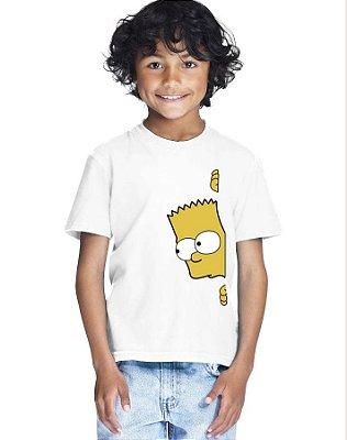 Camiseta Infantil Menino Bart Espiando - Personalizadas/ Customizadas/ Estampadas/ Camiseteria/ Estamparia/ Estampar/ Personalizar/ Customizar/ Criar/ Camisa Blusas Baratas Modelos Legais Loja Online