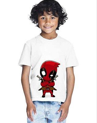 Camiseta Infantil Menino Deadpool - Personalizadas/ Customizadas/ Estampadas/ Camiseteria/ Estamparia/ Estampar/ Personalizar/ Customizar/ Criar/ Camisa Blusas Baratas Modelos Legais Loja Online