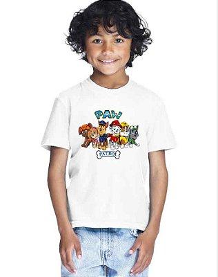 Camiseta Infantil Menino Paw Patrol Dogs Patrulha Canina - Personalizadas/ Customizadas/ Estampadas/ Camiseteria/ Estamparia/ Estampar/ Personalizar/ Customizar/ Criar/ Camisa Blusas Baratas Modelos Legais Loja Online