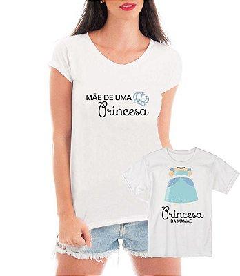 Camisetas Tal Mãe Tal Filha Princesas - Personalizadas/ Customizadas/ Estampadas/ Camiseteria/ Estamparia/ Estampar/ Personalizar/ Customizar/ Criar/ Camisa Blusas Baratas Modelos Legais Loja Online