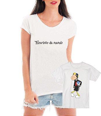 Camisetas Tal Mãe Tal Filho Tesouro Kiko - Personalizadas/ Customizadas/ Estampadas/ Camiseteria/ Estamparia/ Estampar/ Personalizar/ Customizar/ Criar/ Camisa Blusas Baratas Modelos Legais Loja Online