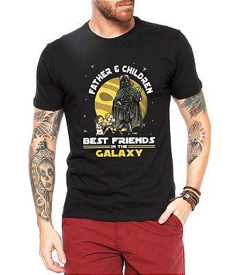 Camiseta Pai e Filhos Casal Best Friends Galaxy Star Wars Darth Vader Dia Dos Pais Preto - Personalizadas Customizadas Estampadas Camiseteria Estamparia Estampar Personalizar Customizar Criar Camisa Blusas Baratas Modelos Legais Loja Online