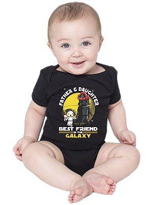 Body Bebê Pai e Filha Friends Dia das Crianças Star Wars Darth Vader - Roupinhas Macacão Infantil Bodies Roupa Manga Curta Menino Menina Personalizados