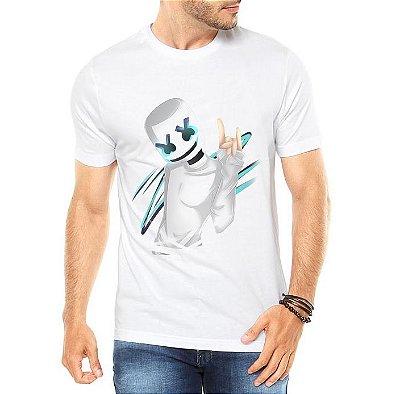 Camiseta Masculina Marshmello Dj Música Eletrônica  - Personalizadas/ Customizadas/ Estampadas/ Camiseteria/ Estamparia/ Estampar/ Personalizar/ Customizar/ Criar/ Camisa Blusas Baratas Modelos Legais Loja Online
