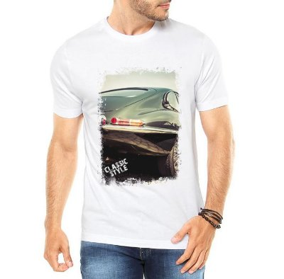 Camiseta Masculina Carro Antigo Clássico