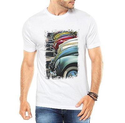 Camiseta Masculina Fuscas Carros Colors Antigos Clássicos - Personalizadas/ Customizadas/ Estampadas/ Camiseteria/ Estamparia/ Estampar/ Personalizar/ Customizar/ Criar/ Camisa Blusas Baratas Modelos Legais Loja Online