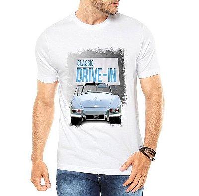 Camiseta Masculina Classic Drive In- Personalizadas/ Customizadas/ Estampadas/ Camiseteria/ Estamparia/ Estampar/ Personalizar/ Customizar/ Criar/ Camisa Blusas Baratas Modelos Legais Loja Online