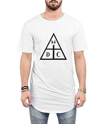 Camiseta Long Line Oversized Masculina Damassaclan DMC Camisetas Barra Curvada - Camisetas Personalizadas/ Customizadas/ Estampadas/ Camiseteria/ Estamparia/ Estampar/ Personalizar/ Customizar/ Criar/ Camisa Barata  Loja Online