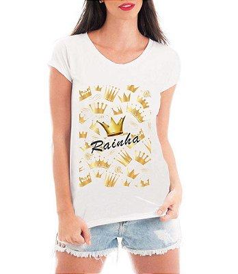 Blusa TShirt  Feminina Dia Das Mães Mãe Rainha - Personalizadas/ Customizadas/ Estampadas/ Camiseteria/ Estamparia/ Estampar/ Personalizar/ Customizar/ Criar/ Camisa Blusas Baratas Modelos Legais Loja Online