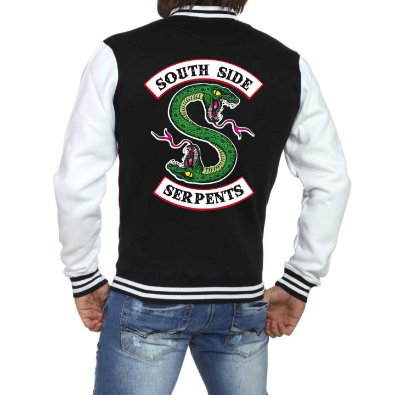 Jaqueta College Masculina Riverdale South Side Serpents Séries Seriados Serpentes do Sul - Jaquetas Colegial Americana Universitária Casacos Blusa Loja Online ​