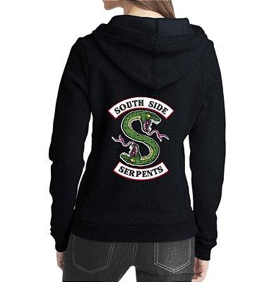 Blusa Moletom Feminino Riverdale South Side Serpents Séries Seriados - Moletons Personalizados Blusa/Jaqueta/ Blusa de Frio