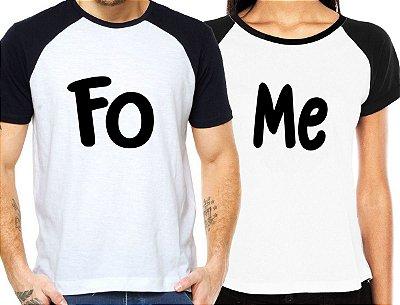 Camiseta Casal Fome Kit Namorados - Personalizadas/ Customizadas/ Estampadas/ Camiseteria/ Estamparia/ Estampar/ Personalizar/ Customizar/ Criar/ Camisa Blusas Baratas Modelos Legais Loja Online