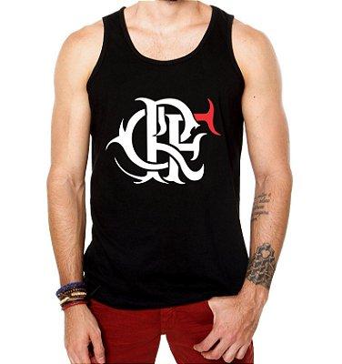 Camiseta Regata Flamengo Escudo Futebol Time Torcedor Masculina