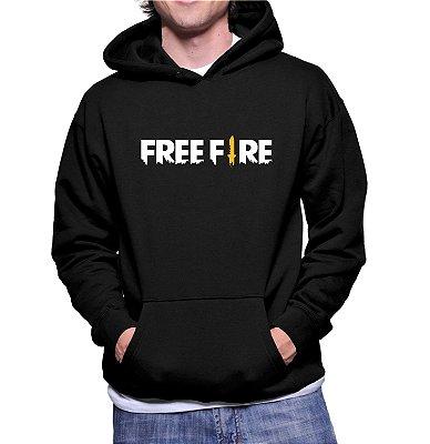 Moletom Frio Free Fire Blusa Moletom Masculino Jogo Free Fire Game