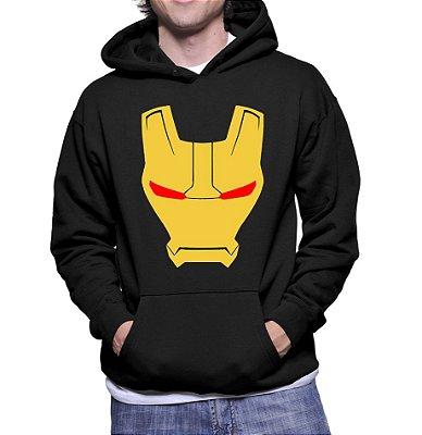 Moletom Homem de Ferro Vingadores Ultimato Avengers Mascara Masculino Preto