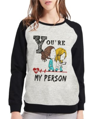 Moletom Greys Anatomy Feminino My Person Raglan