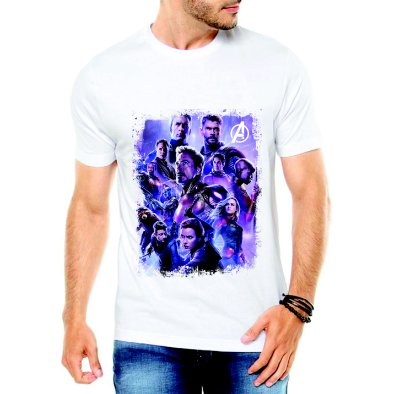 Camiseta Vingadores Ultimato Marvel Super Heróis Avengers