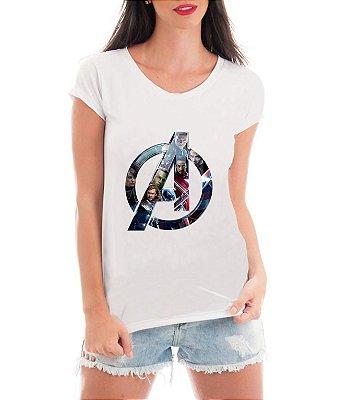 Camiseta Feminina Vingadores Ultimato Blusa Avengers Super Heróis