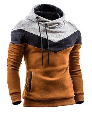 Moletom Masculino Slim 3 Cores Casaco Blusa de Frio Com Capuz Swag