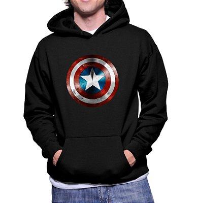 Moletom Capitão América Marvel Vingadores Super Herói Masculino