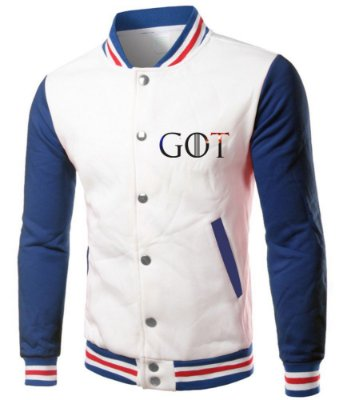Jaqueta Masculina Game Of Thrones Casa Stark College Branca