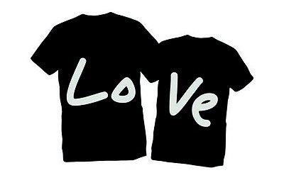 Camiseta Casal Dia dos Namorados Amor Love Namorada Namorado Frases Engraçadas e Divertidas Kit 2 Camisetas