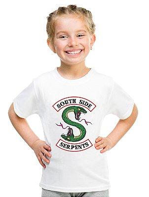 Camiseta Infantil Riverdale Serpentes do Sul Série Blusa Infantil Menina