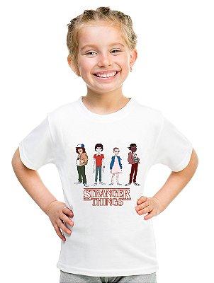 Camiseta Infantil Stranger Things Once Camiseta Série Menina