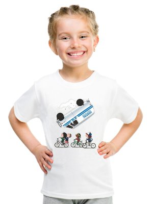 Camiseta Infantil Stranger Things Once Kombi Camiseta Série Menina