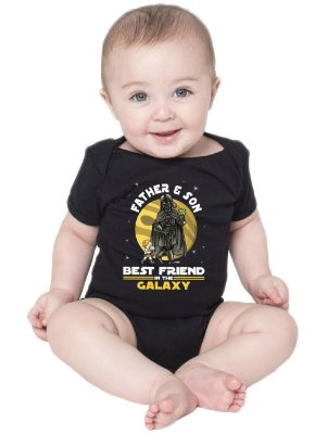 Body Bebê Pai e Filho Star Wars Best Friends in The Galaxy Tal Pai