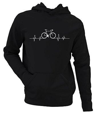 Moletom Ciclismo Blusa de Frio Loucos Por Bike Moleton Bicicleta Pulsação Esporte Roupa Ciclista