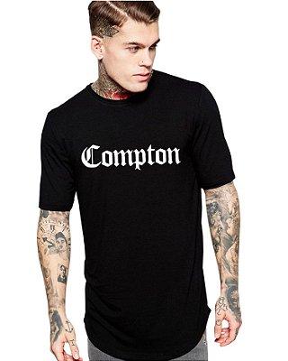 Camiseta Longline Compton Masculina Long Line Oversized Camisa