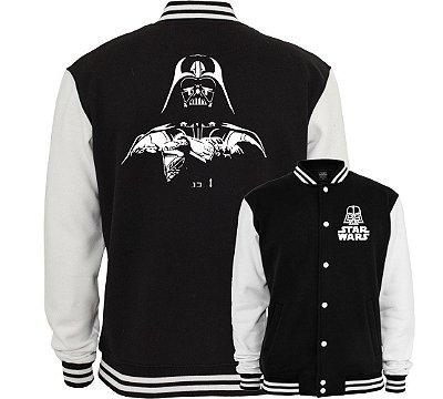 Jaqueta Masculina Preta College Star Wars Darth Vader Americana