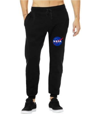 Calça Masculina NASA Moletom Tumblr Jogger Casual