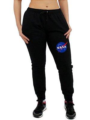 Calça Moletom Feminina NASA Jogger Tumblr Casual