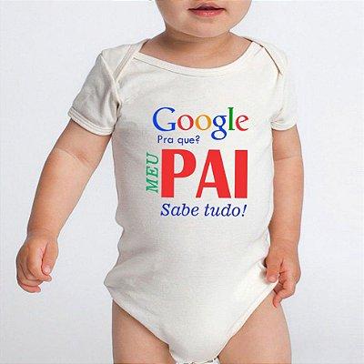 Body Bebê Frases Engraçadas Google Pai Divertidas Branco