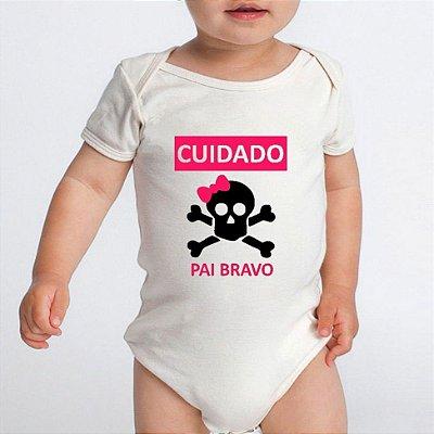 Body Bebê Pai Frases Engraçadas - Roupinhas Macacão Infantil Bodies Roupa Manga Curta Menina Personalizados