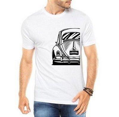 Camiseta Masculina Branca Fusca Carro Antigo Clássico Wolksvagem