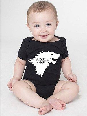 Body Bebê Nerd Game Of Thrones Stark Geek - Roupinhas Macacão Infantil Bodies Roupa Manga Curta Menino Menina Personalizados