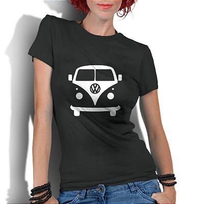 Camiseta Feminina Kombi Carro Antigo Clássico - Personalizadas/ Customizadas/ Estampadas/ Camiseteria/ Estamparia/ Estampar/ Personalizar/ Customizar/ Criar/ Camisa Blusas Baratas Modelos Legais Loja Online