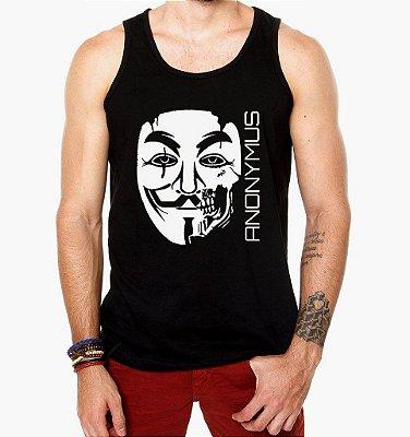 Camiseta Regata Masculina Anonymus Destroy Nerd Geek Filmes V De Vingança- Personalizadas/ Customizadas/ Estampadas/ Camiseteria/ Estamparia/ Estampar/ Personalizar/ Customizar/ Criar/ Camisa Blusas Baratas Modelos Legais Loja Online