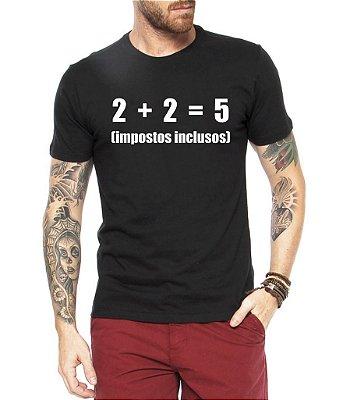 Camiseta Masculina Impostos Nerd Geek