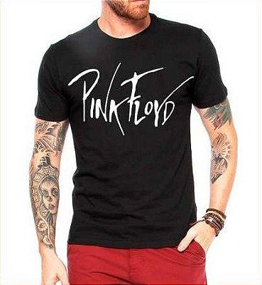 Camiseta Masculina Pink Floyd Assinatura Banda De Rock - Personalizadas/ Customizadas/ Estampadas/ Camiseteria/ Estamparia/ Estampar/ Personalizar/ Customizar/ Criar/ Camisa Blusas Baratas Modelos Legais Loja Online