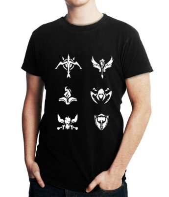 Camiseta Masculina League Of Legends Lol Games - Personalizadas/ Customizadas/ Estampadas/ Camiseteria/ Estamparia/ Estampar/ Personalizar/ Customizar/ Criar/ Camisa Blusas Baratas Modelos Legais Loja Online