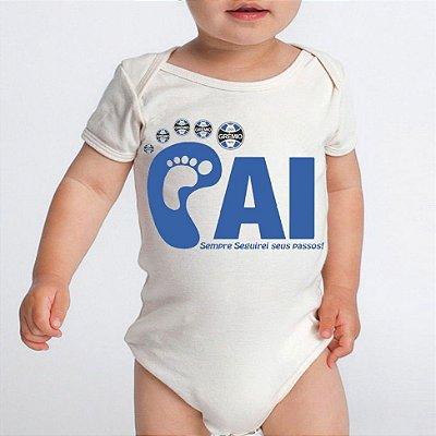 Body Bebê Futebol Grêmio Tricolor Time Do Papai- Roupinhas Macacão Infantil Bodies Roupa Manga Curta Menino Menina Personalizados
