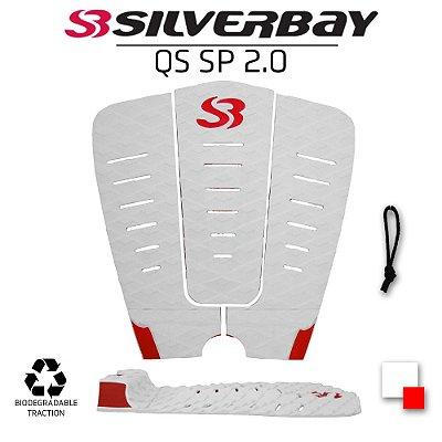 Deck Surf SILVERBAY QS SP 2.0 IMPACTO - Signature Samual Pupo - Branco/Vermelho